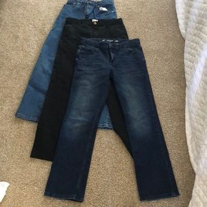 Lot of 3 pairs boys 16R pants/jeans